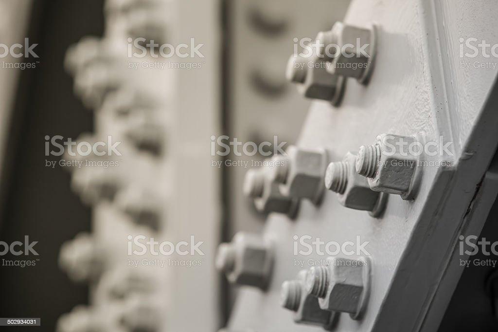 Metal Construction Detail stock photo