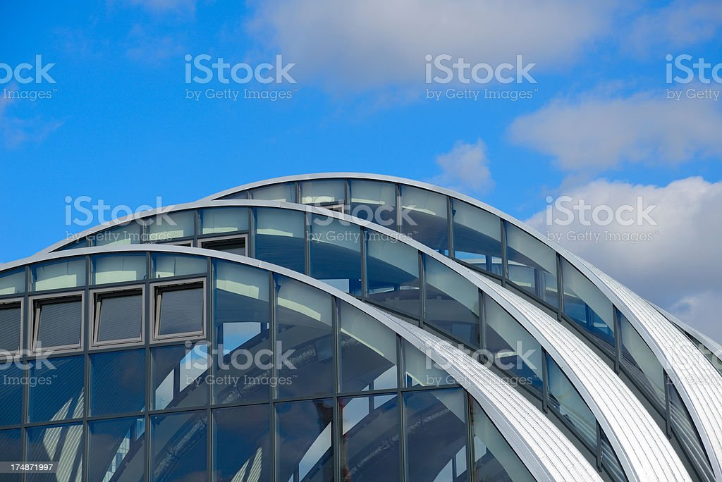 Metal Construction on Blue Sky Background - 36 Mpx royalty-free stock photo