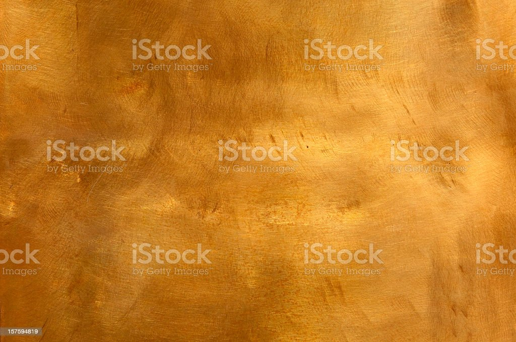 Abstract copper metal background, scratchy mottled texture stock photo