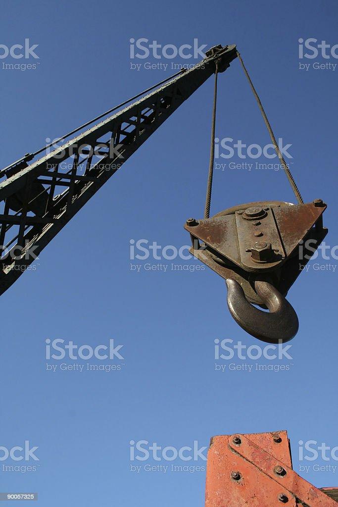 Metal Crane hook stock photo