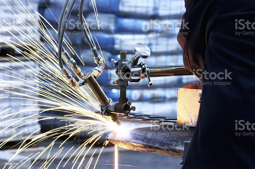 Metal cutting stock photo