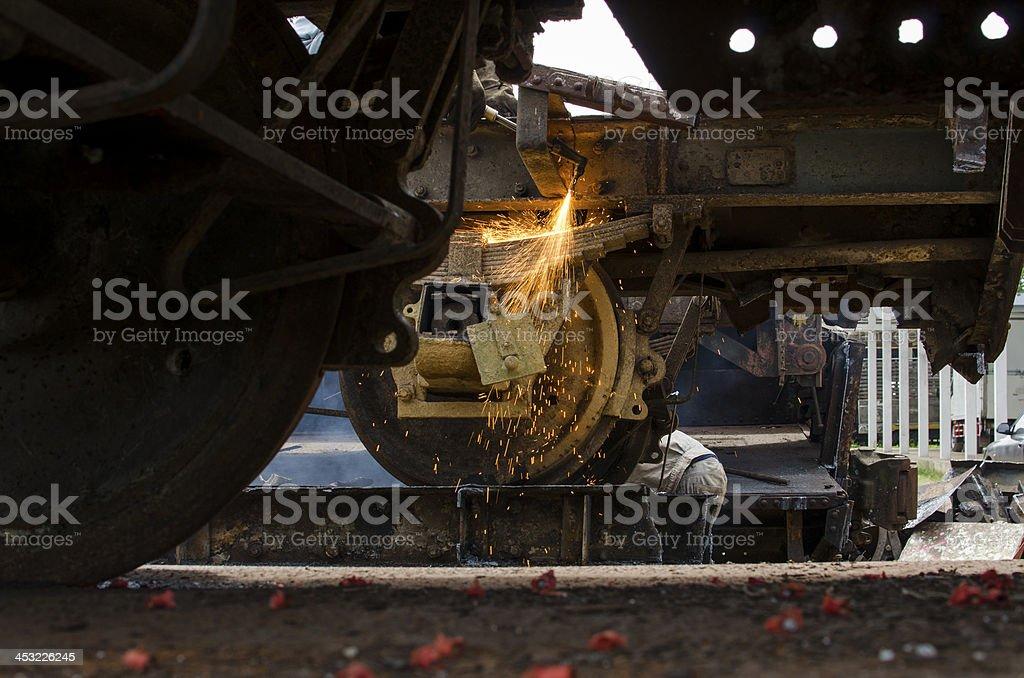metal cutting royalty-free stock photo