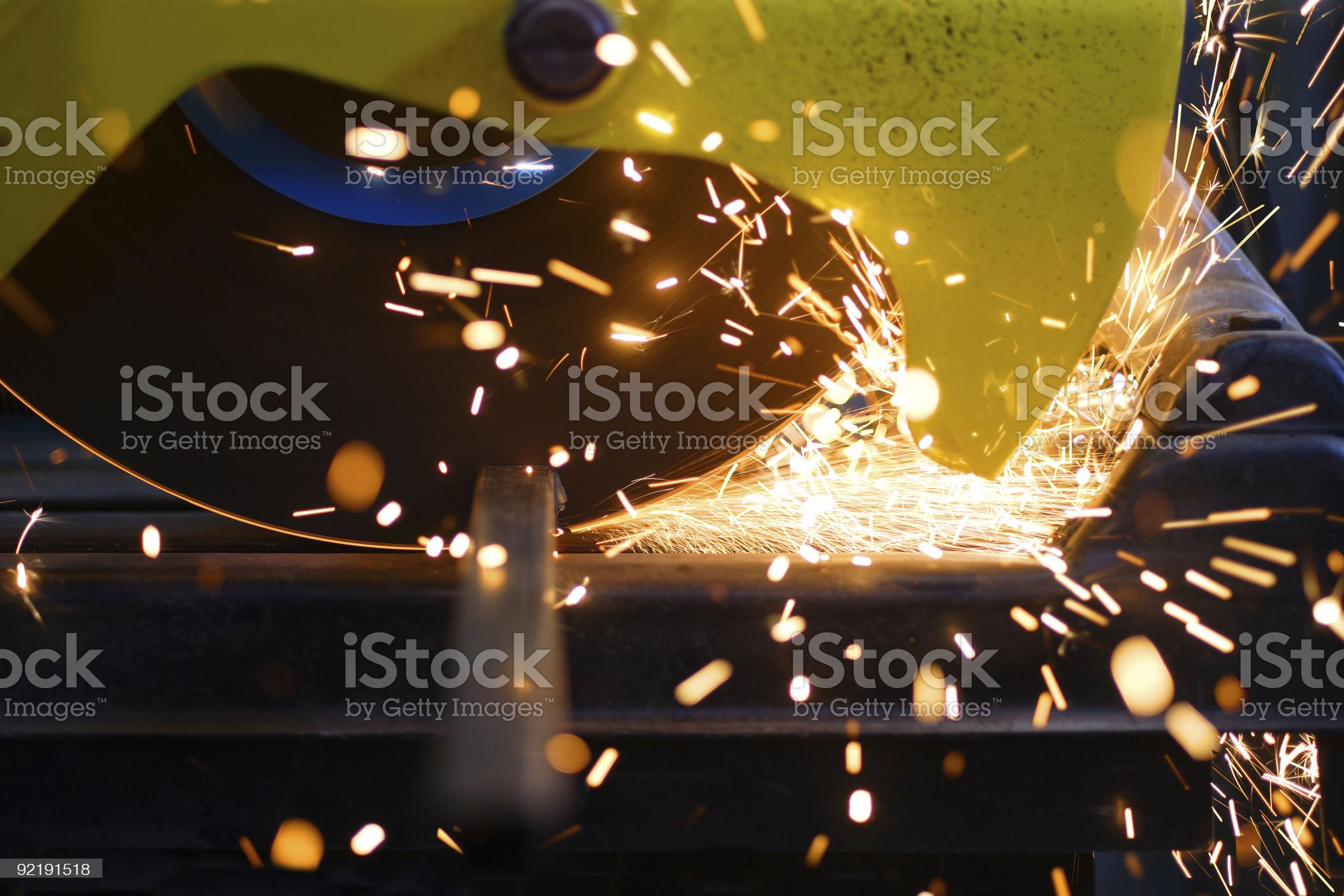 Metal cutting royalty-free stock photo