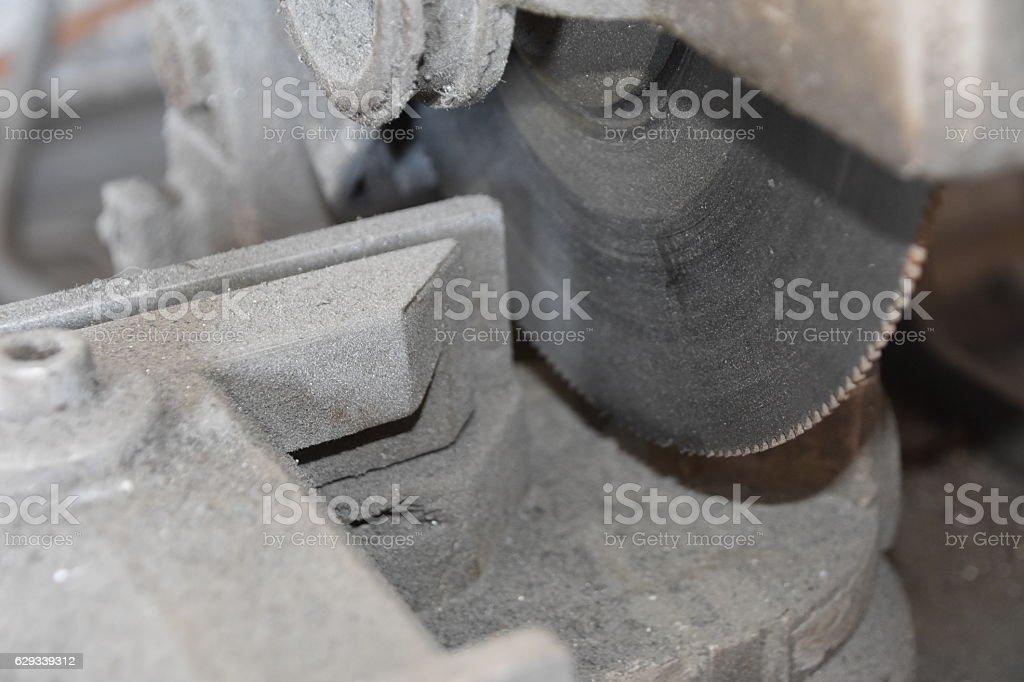 Metal cutting saw stock photo