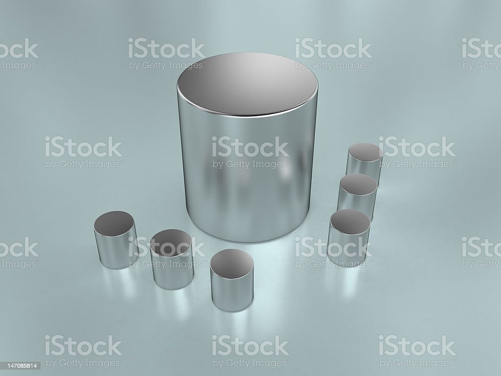 metal cylinders royalty-free stock photo