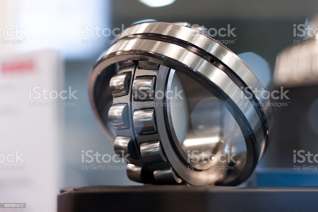 Metal cylindrical bearing stock photo