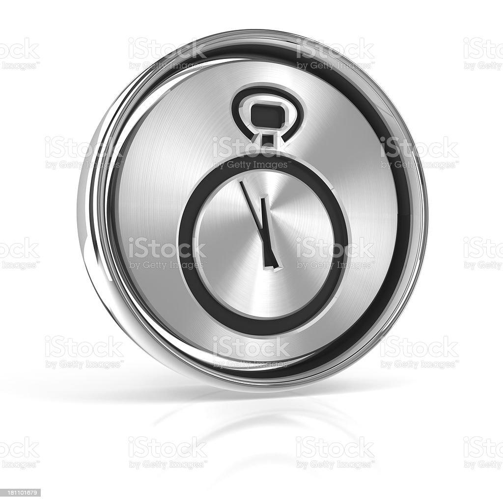 Metal deadline icon royalty-free stock photo