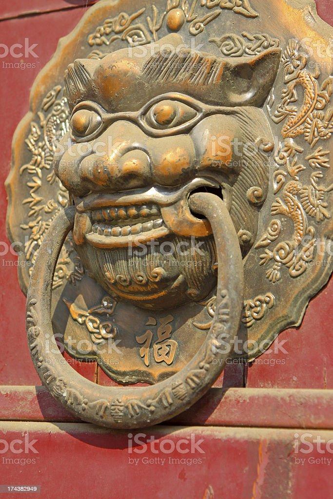 metal decorations - beast's head royalty-free stock photo