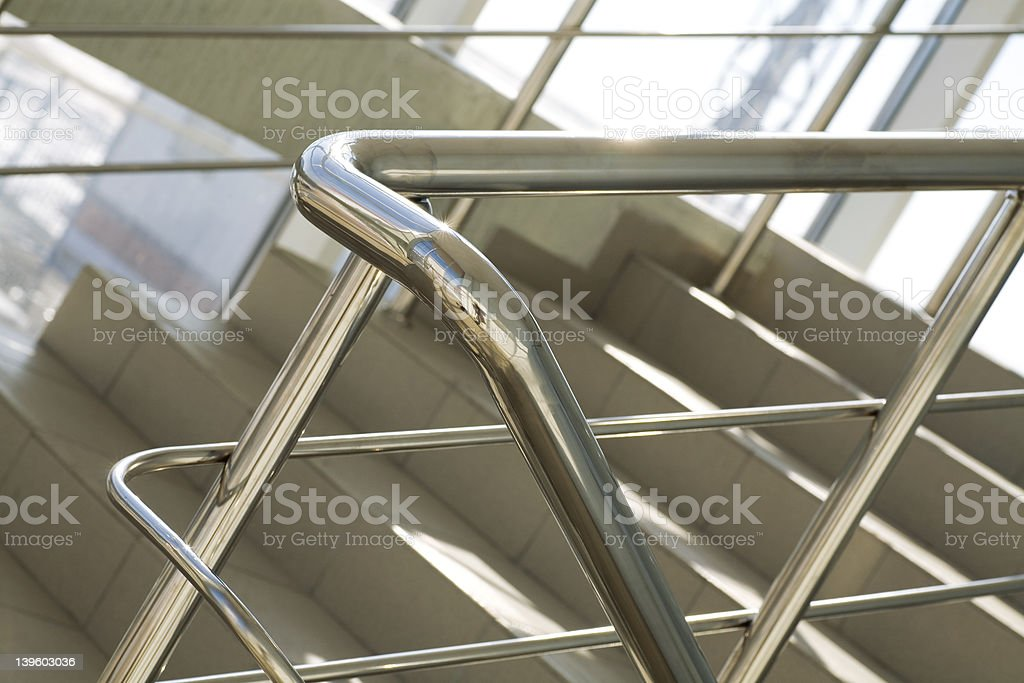 Metal details of an interior stock photo