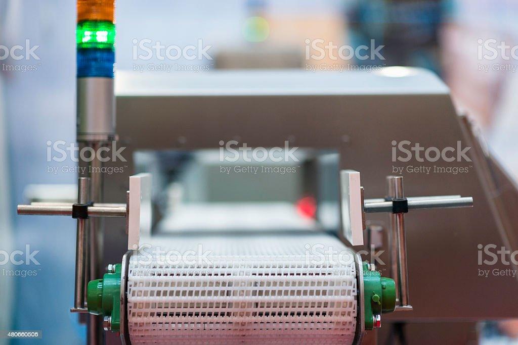 Metal Detector Conveyor stock photo