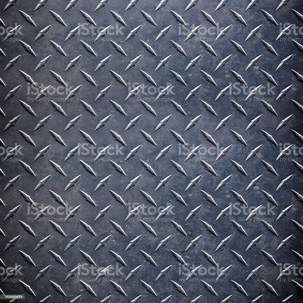 metal diamond plate ; abstract industrial background stock photo