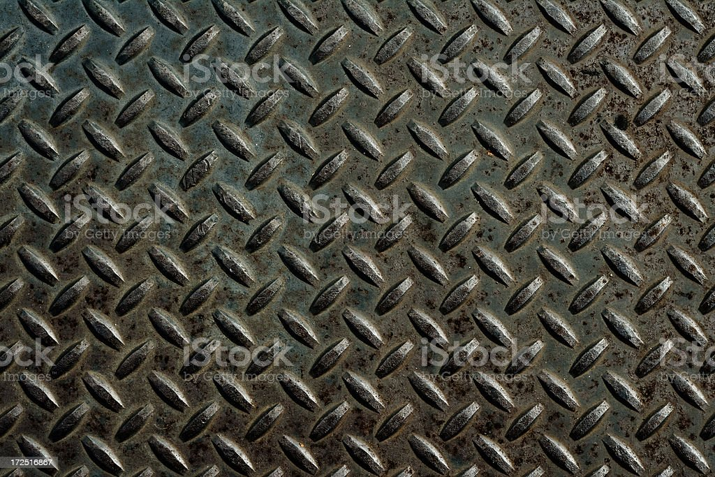 metal diamond plate background XXL stock photo