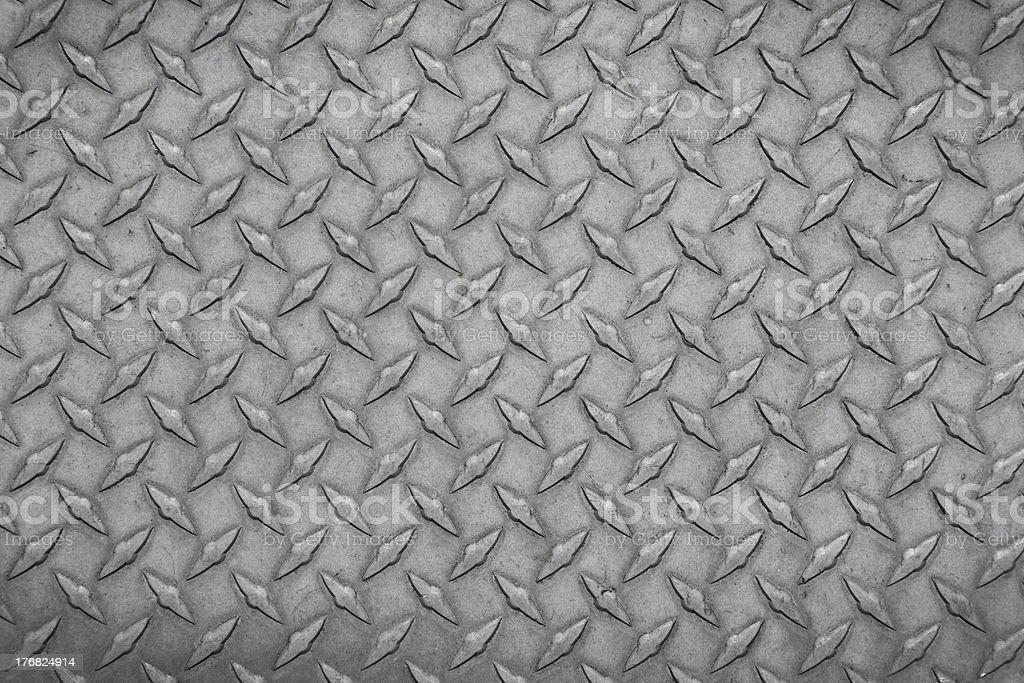 Metal diamond plate close up royalty-free stock photo