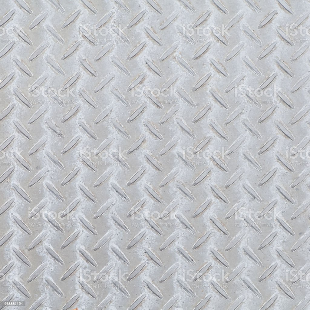 Metal diamond plate pattern and background seamless stock photo
