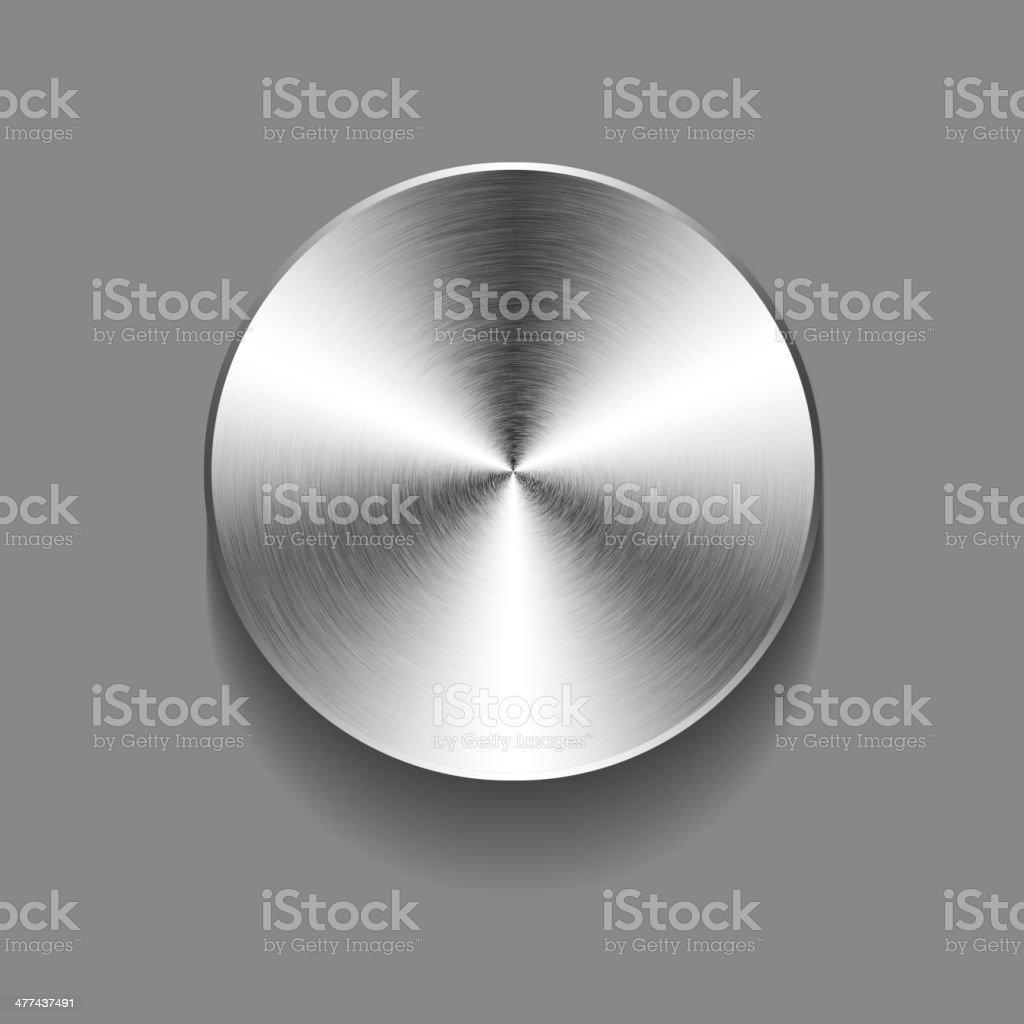 metal disc   button stock photo