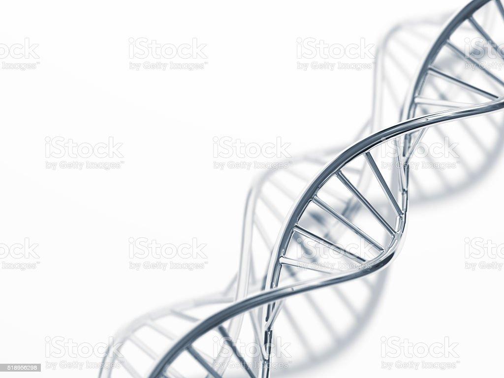 Metal DNA stock photo
