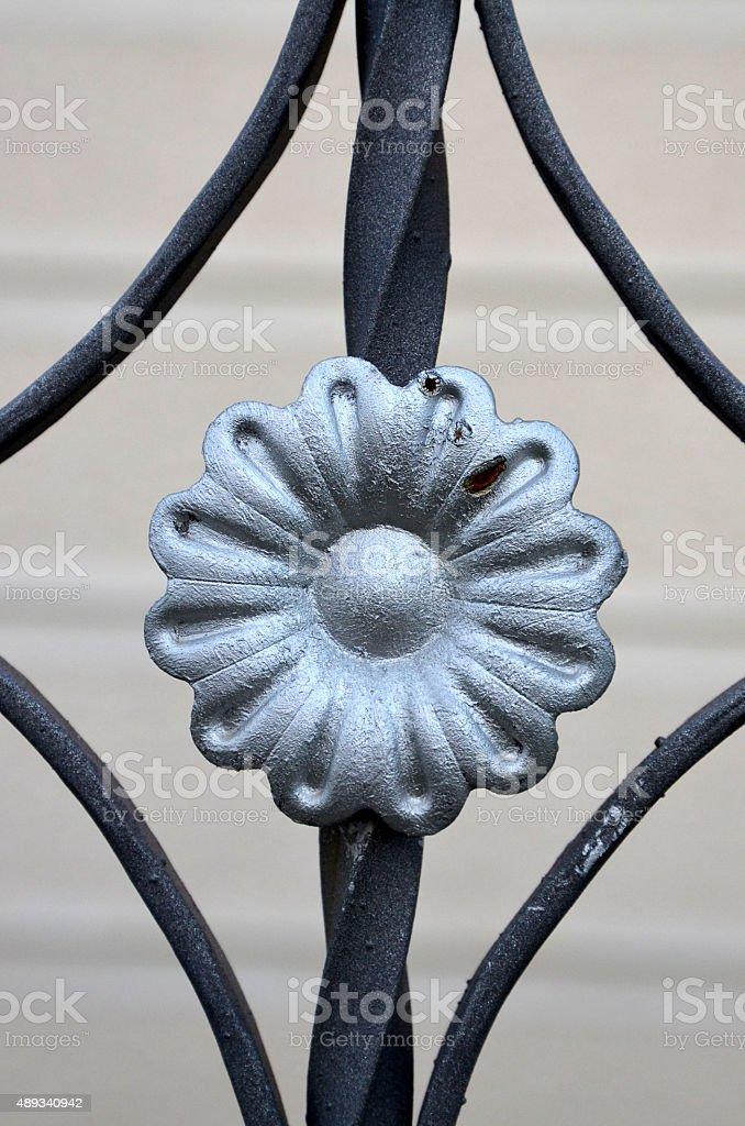 metal door decoration stock photo