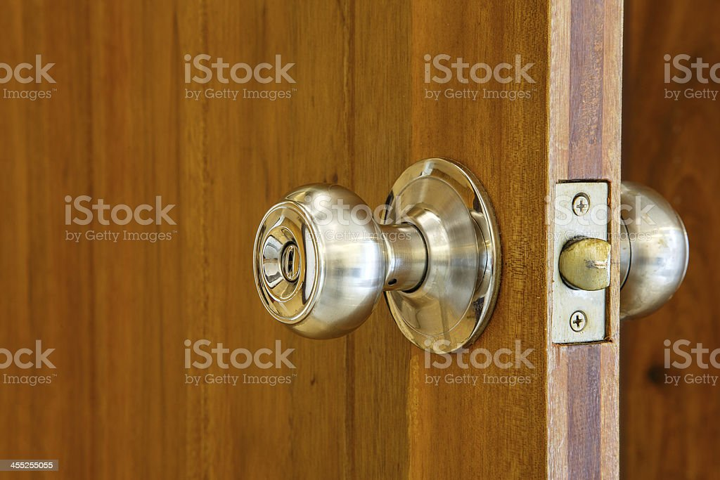 Metal Door Knob stock photo