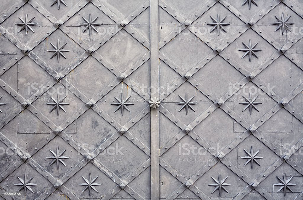 Metal Door stock photo