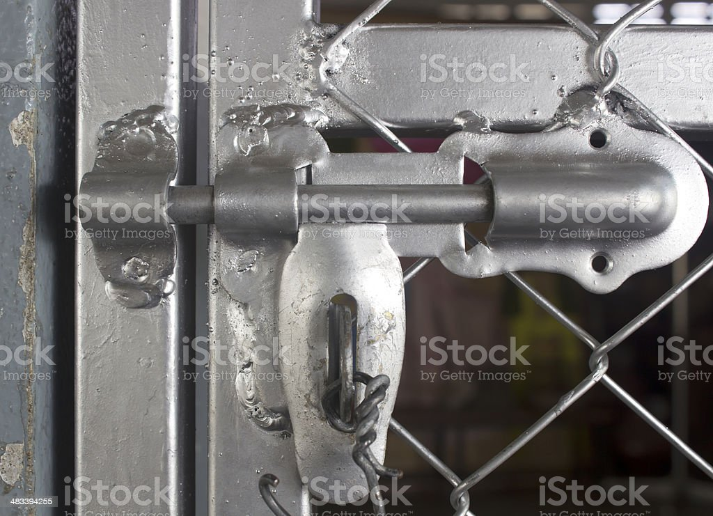 metal door with lock in grungy style and good texture. royalty-free stock photo