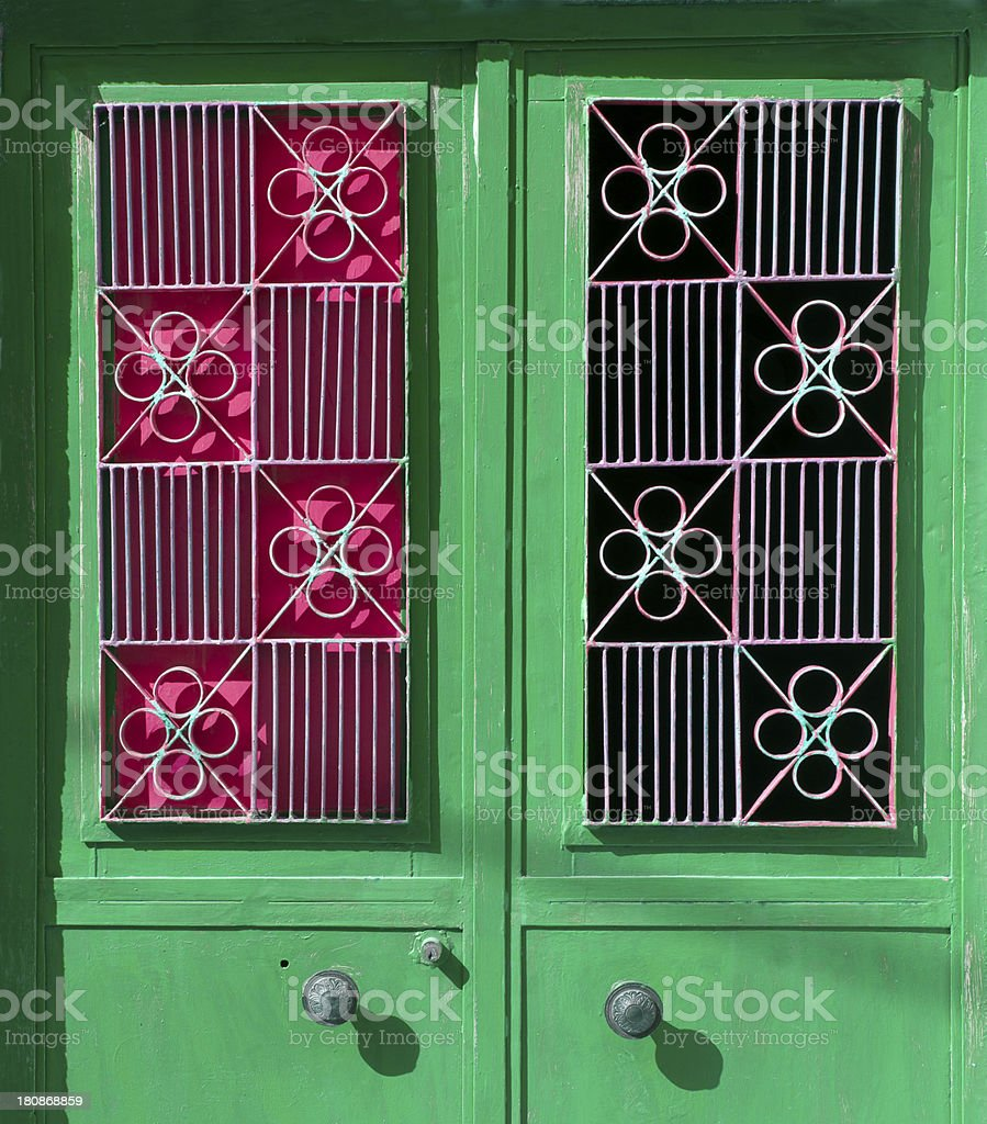 metal door with motif royalty-free stock photo