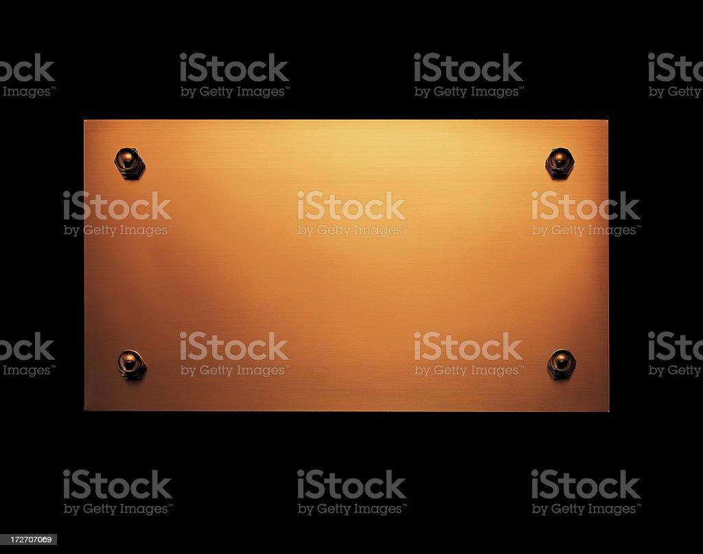 Metal doorplate stock photo