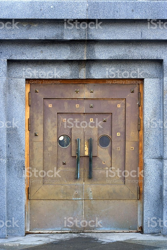 Metal doors royalty-free stock photo