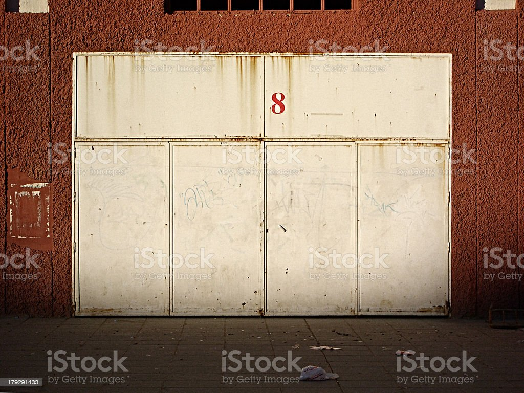 Metal doors. royalty-free stock photo