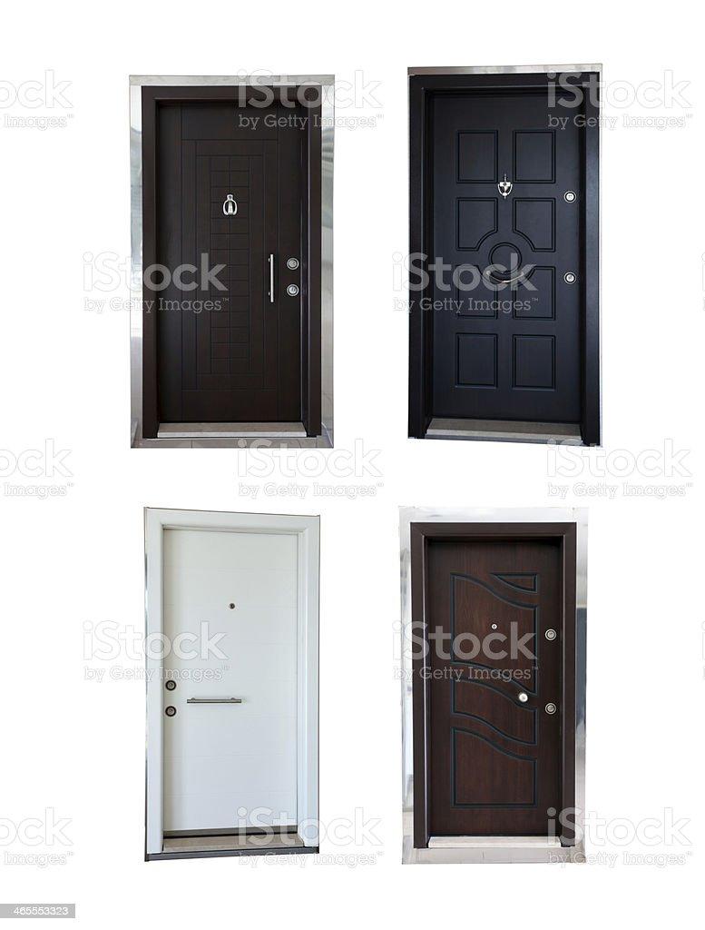metal doors stock photo
