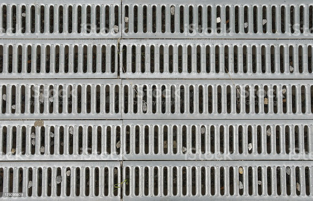 metal drain grid stock photo