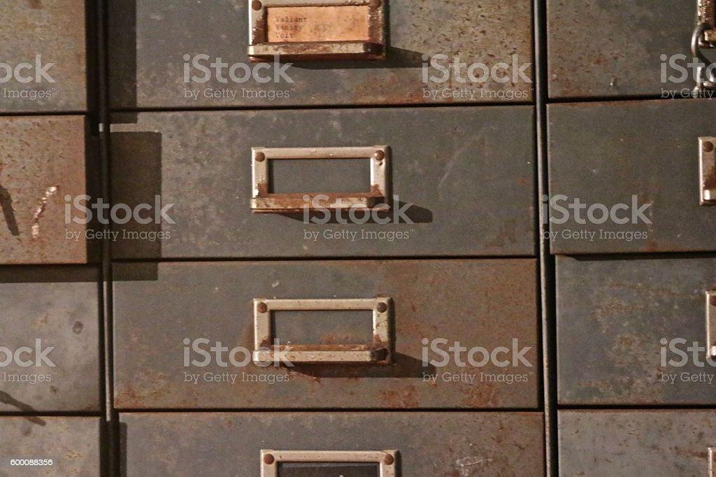 metal drawer stock photo