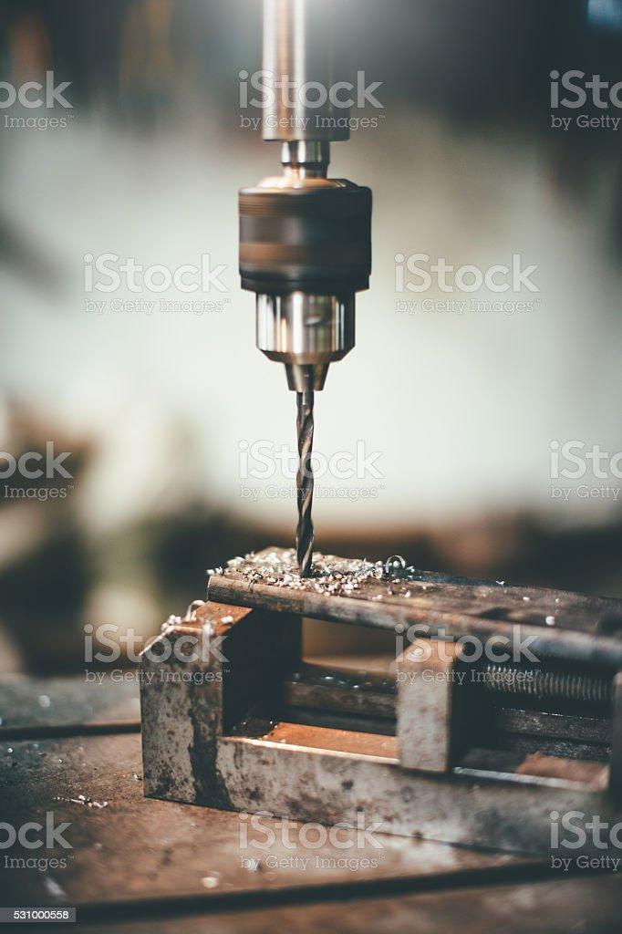 metal drilling stock photo