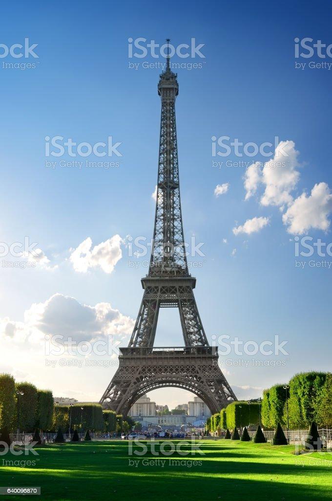 Metal Eiffel Tower stock photo