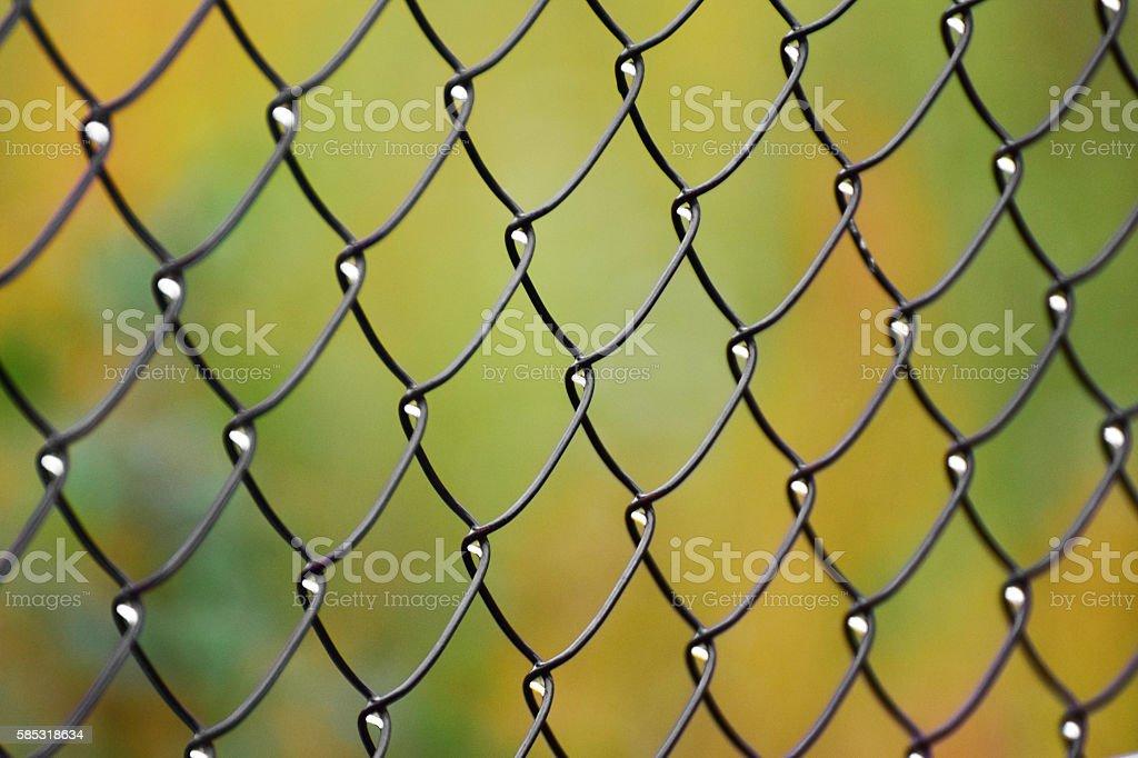 Metal fence pattern stock photo