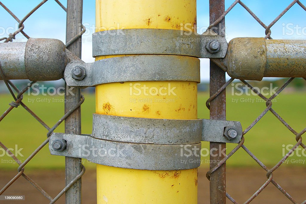 Metal Fence Post royalty-free stock photo