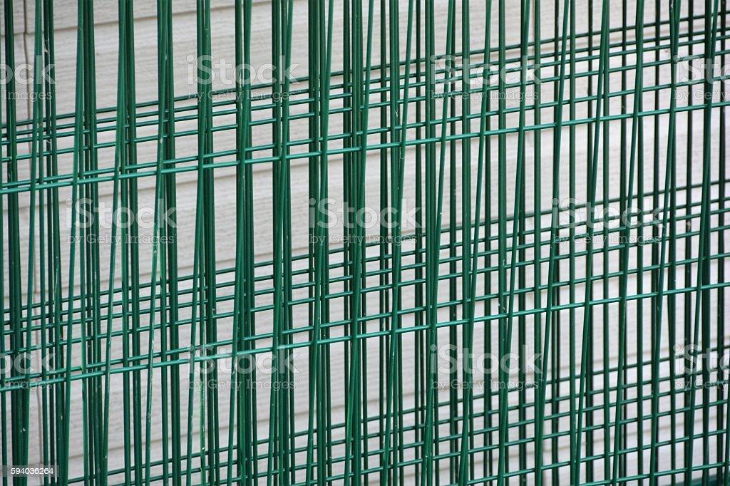 Metal Fencing stock photo