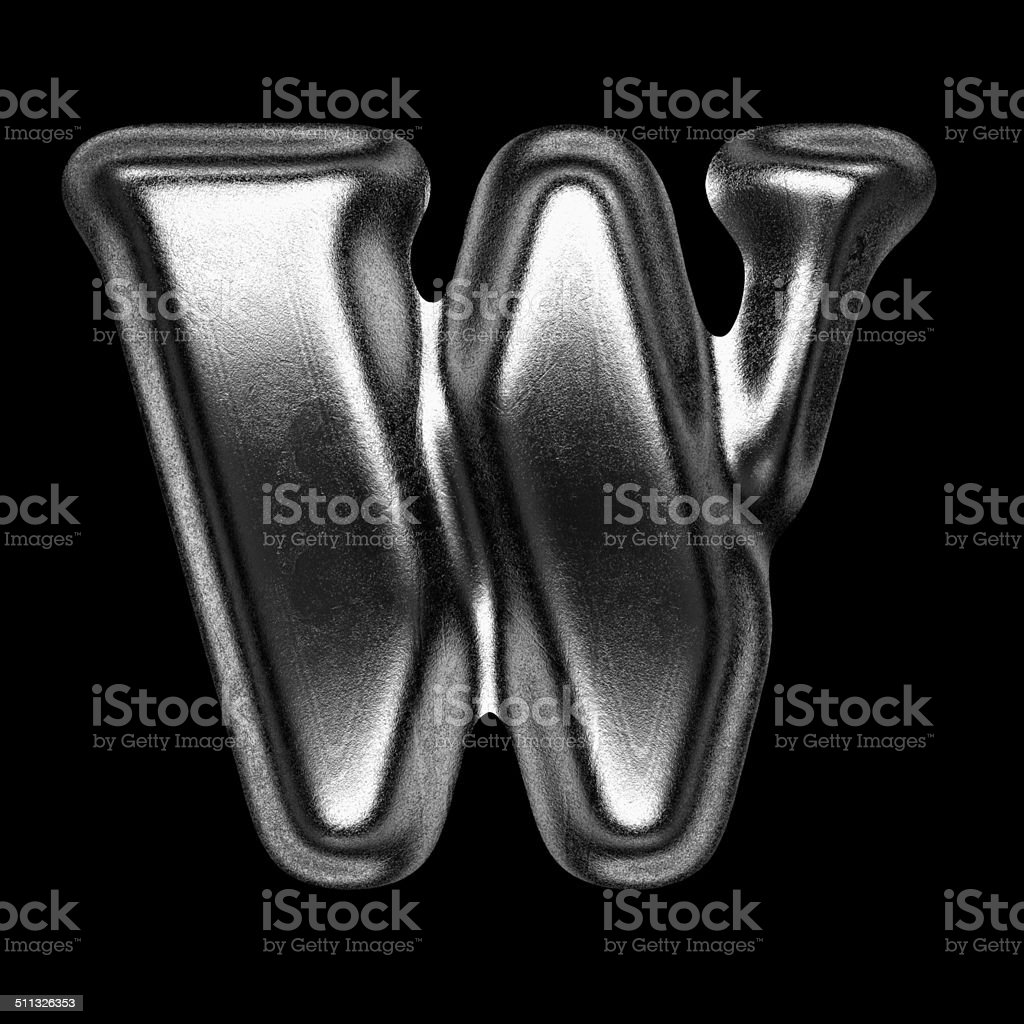 metal figure on black background stock photo