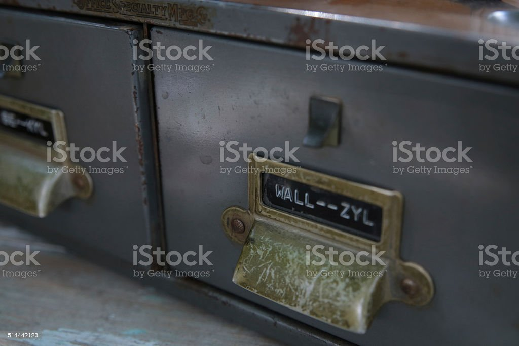 Metal Filing Cabinet for Medical Notes stock photo