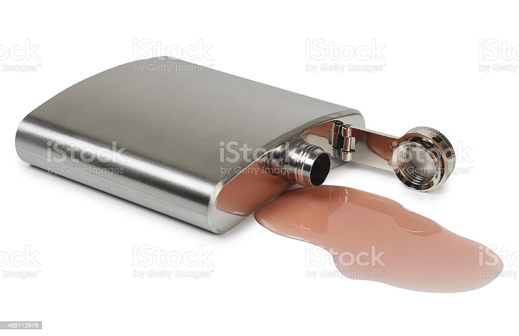 Metal flask royalty-free stock photo