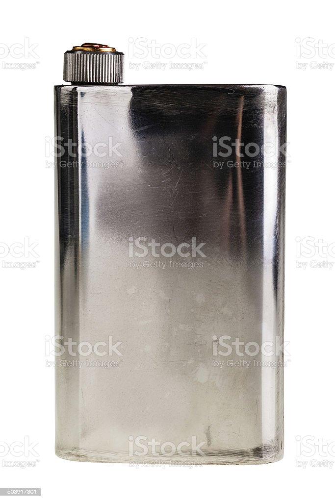 Metal flask royalty-free stock photo