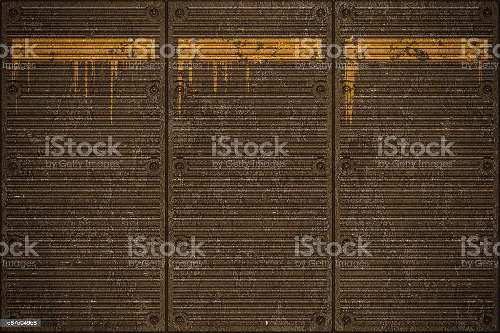 Metal floor plate background stock photo