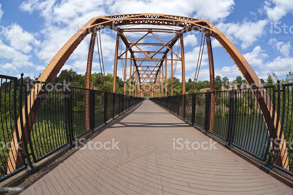 Metal Foot Bridge royalty-free stock photo