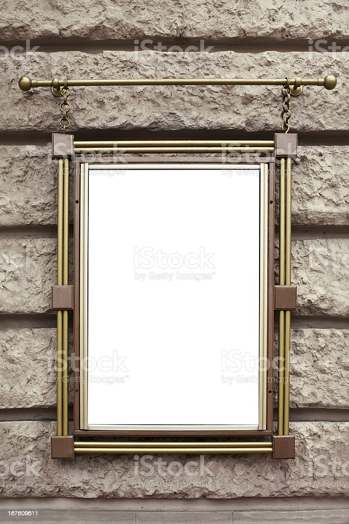 Metal frame on wall royalty-free stock photo
