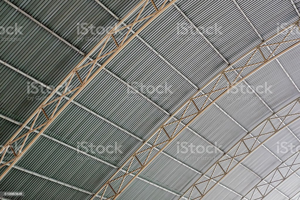 Metal Framwork of the roof stock photo