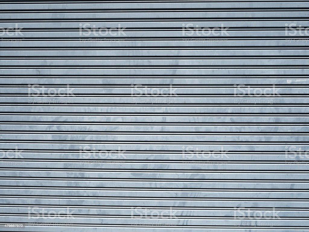 metal garage gate stock photo