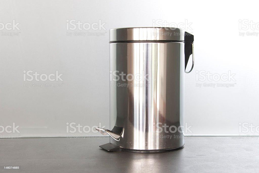 Metal garbage bin stock photo
