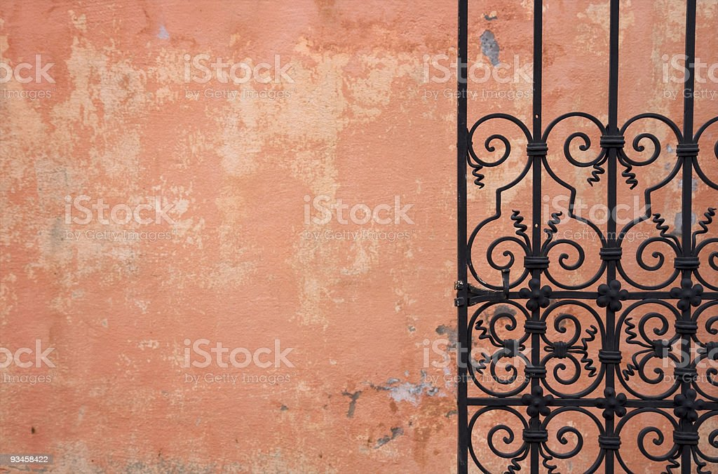 Metal gate background stock photo