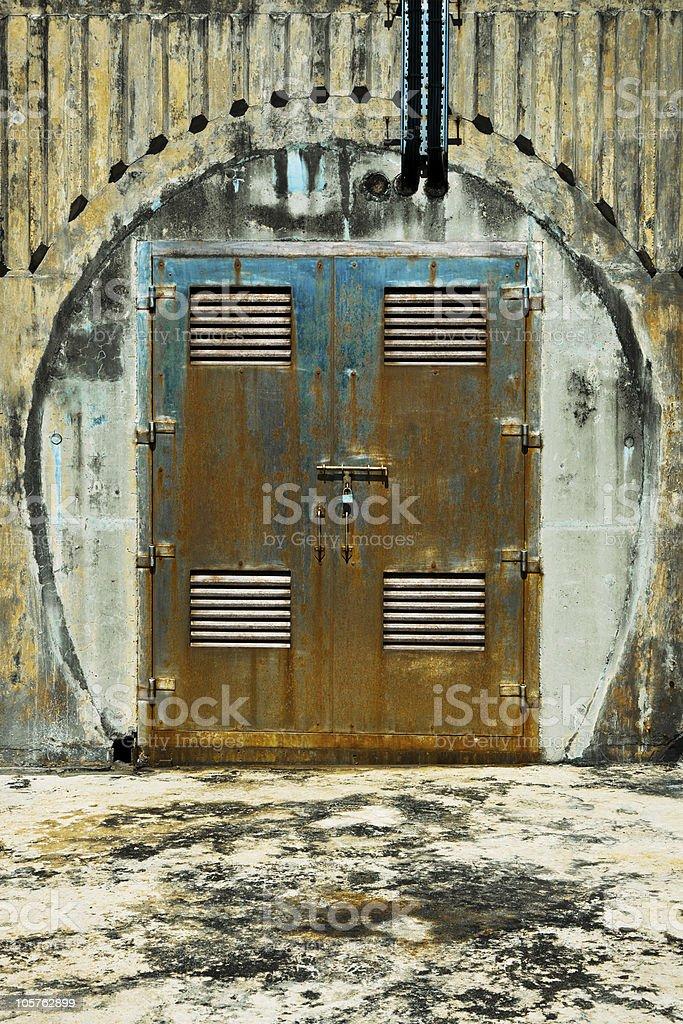 Puerta de Metal foto de stock libre de derechos