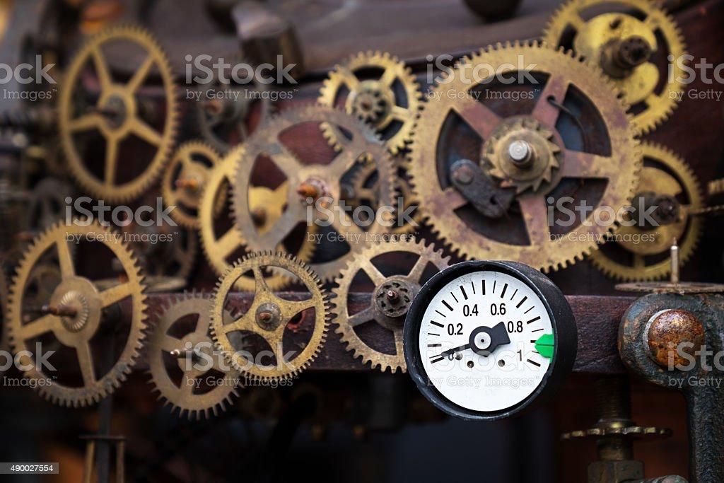 Metal gear cogwheel stock photo