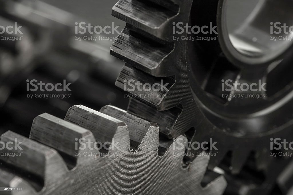 Metal Gears stock photo